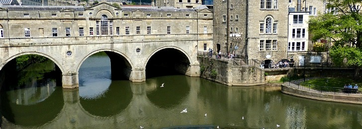 Get train from London to Bath Spa station and soak yourself in the contemporary Thermal Bath Spa in this great city.