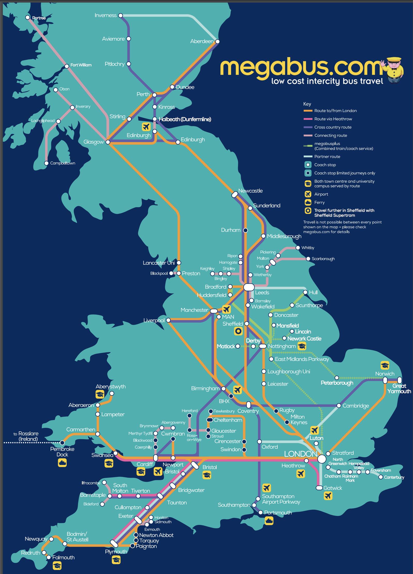 megabus and mega train route