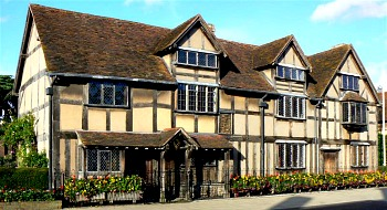Stratford Upon Avon, birth place of William Shakespeare.