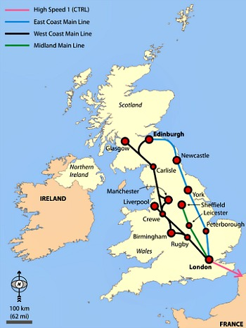 East Coast Main Line Route