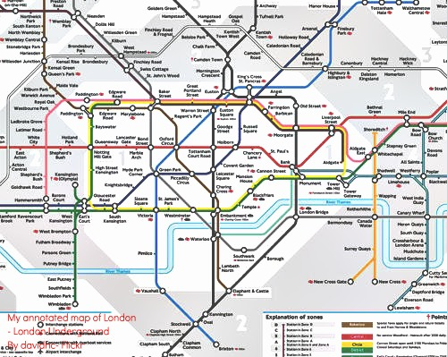 London Underground Tub Map Current