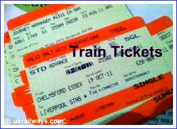 British rail ticket to Chelmsford, Essex, England.