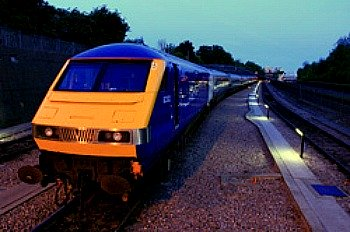 Chiltern railways train picture. Leaving Birmingham to London.