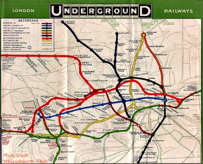 London Underground Tub Map 1908