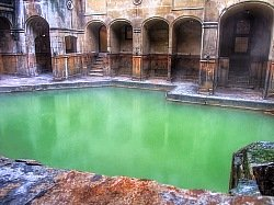Booking a train from London to Bath is worth it even if only to see this ancient bath pool!